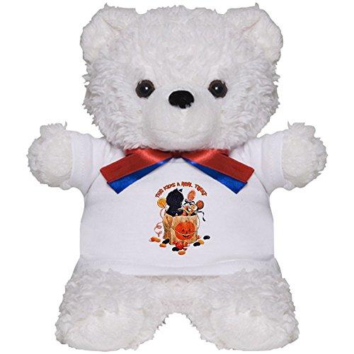 Teddy Bear White Halloween Kitten Candy Pumpkin ()
