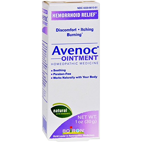 Boiron Avenoc Ointment - Hemorrhoid Relief - Homeopathic - 1 oz (Pack of 2)