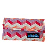 KAVU Mondo Spender Tri-Fold Wallet with Snap Closure - Sunset Chevron