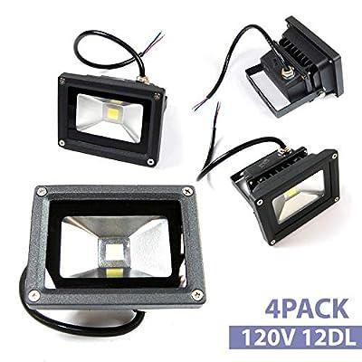 4pack 20W LED SMD Flood Light Warm White Outdoor Garden Spotlight 120V Lamp