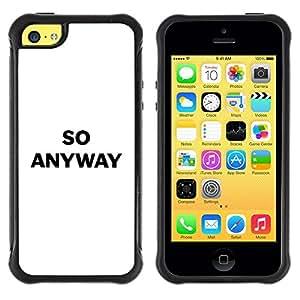 "Pulsar iFace Series Tpu silicona Carcasa Funda Case para Apple iPhone 5C , Texto minimalista Blanco Negro"""