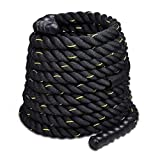 Jakago Battle Exercise training Rope 2 Inch Diameter 40ft Length Fitness Rope Heavy Duty Poly Dacron Battle Ropes with Anchor kit Workout Training Undulation Ropes