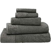 Bambury Costa Towel Range Bath Towel, Pewter