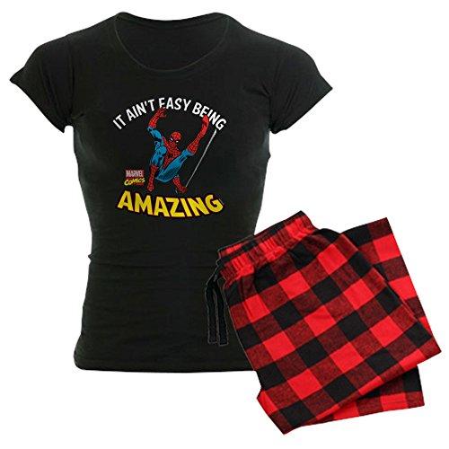 CafePress Spider Man Amazing Pajamas Womens Novelty Cotton Pajama Set, Comfortable PJ Sleepwear -