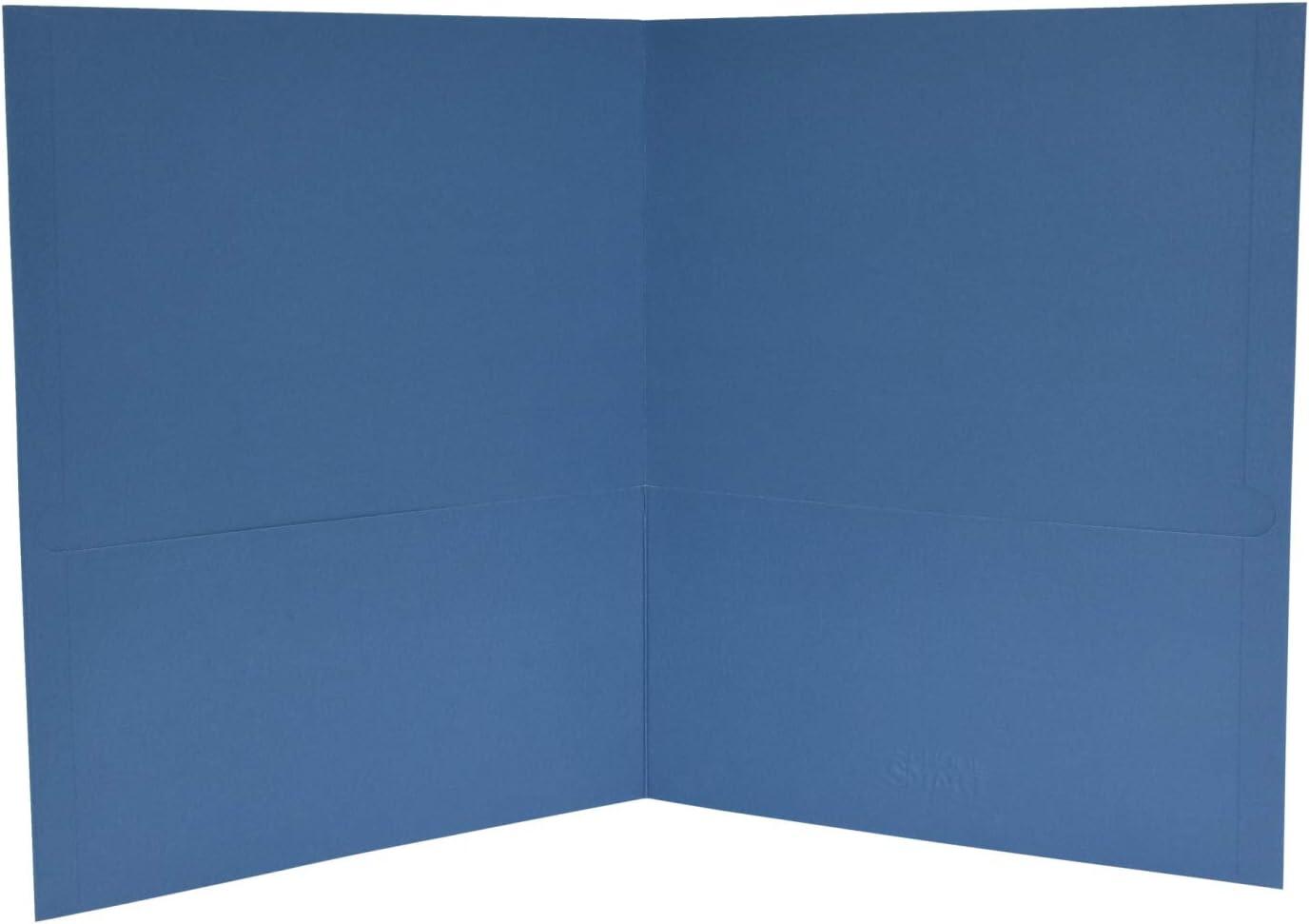 School Smart 2-Pocket Folders Pack of 25 Light Blue