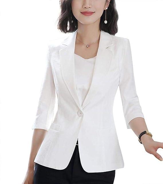 1adcf60bbc9a Betrothales Mujer Primavera Oeste Fashion Formal Fit Blazer Slim ...