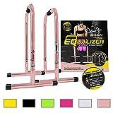 Lebert Fitness Equalizer Bars Total Body Strengthener, Natalie Jill Signature, Rose Gold