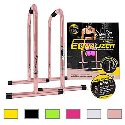 Lebert Fitness Equalizer Bars Total Body Strengthener, Natalie Jill Signature, Rose Gold by Lebert (Image #1)