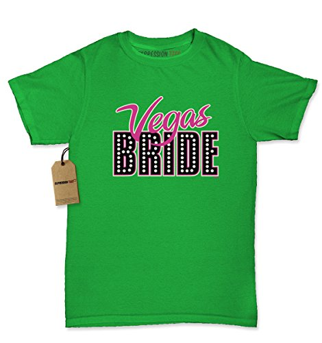 Womens Vegas Bride T-Shirt Medium Kelly Green