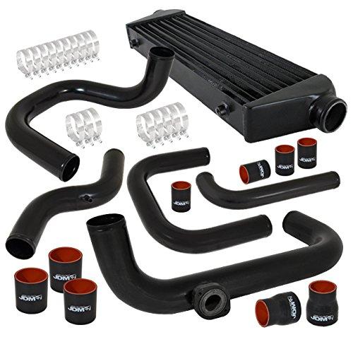 Acura Integra Honda Civic Del Sol Dc2 Ek Eg Ej Turbo Black Aluminum Front Mount Intercooler Piping Kit Coupler (Acura Integra Turbo Kits)