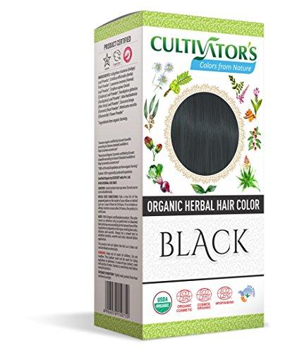 Cultivator's Organic Herbal Hair Colour - Black 100g