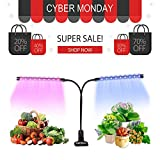 Plant Grow Light, GEARGO 18W Led Grow Lamp AUTO Turn ON/Off, 3H/9H/12H Timers 36 LED Dual Head 5 Dimmable Level 360 Degree Gooseneck Plant Light Bulbs for Indoor Plants Gardening [2018 Upgraded] Review