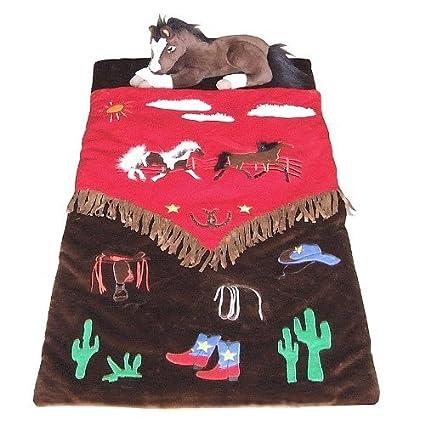 Carstens Cowboy V - Saco de Dormir con Flecos de Caballos Occidentales para niños