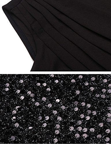 fb7ded6b Zeagoo Women's Sexy Ruched Wrap Sequin Glitter Bodycon Stretchy Mini Party  Dress