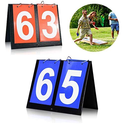 Seapon Cornhole Scoreboard, Score Keeper for Corn Hole Game Play Cornhole Bags, Portable Score Board for Backyard Yard Outdoor Games, Portable Flipper Flip Cards Flips Up to 99