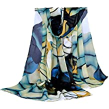 Bestpriceam Women's Chiffon Scarf Large Long Wrap Shawl Scarves (Blue)