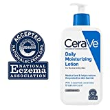Image of CeraVe Daily Moisturizing Lotion 12 oz with Hyaluronic Acid and Ceramides for Normal to Dry Skin