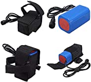 Selomore 8.4V 6400Mah Rechargeable 4X 18650 Battery Pack for Head Lamp Bike Bicycle Light
