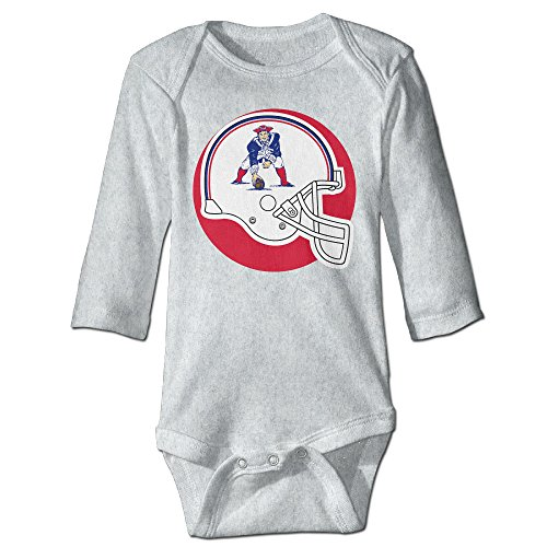 New England Pat Patriot CGH Seven Newborn Baby Romper Jumpsuit Size18 Months Ash