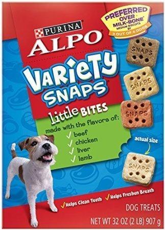 - Purina Alpo Variety Snaps Little Bites Dog Treats 32oz (2)