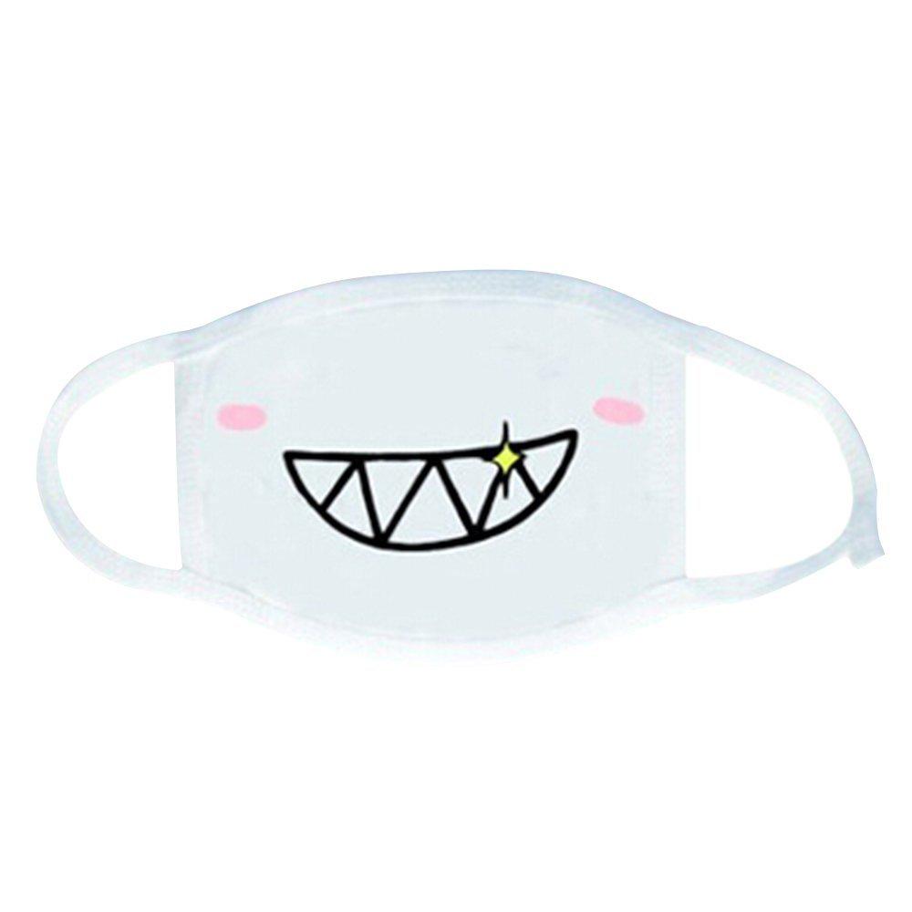 ESTD Anime Emoticon Anti-Dust Face Mask Kawaii Kaomoji Mouth Muffle White (style 2)