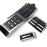 Stainless Steel Fuel Pedal + Brake + Footrest Cover OE Style For Audi A4 S4 B8 A5 S5 Q5 A6 S6 C7 A7 S7