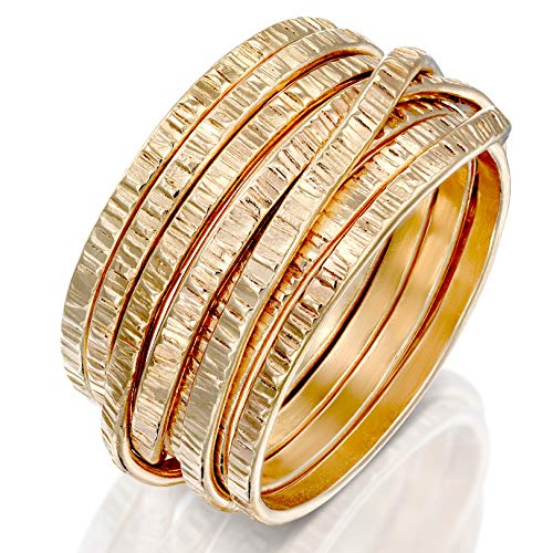 DiDaDo Handmade 18K Gold-Filled 'Wrapped up' Overlapping Knotted Wire Ring ... (12)