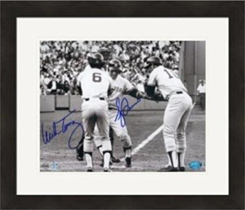 - Bucky Dent and Mike Torrez autographed 8x10 photo (1978 Yankees Al East Winning Home Run) #2 Matted & Framed