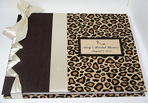 Bridal Shower Guest Book - Cheetah Guestbook - Leopard Guest Book - Animal Print Guest Book by Michelle Worldesigns