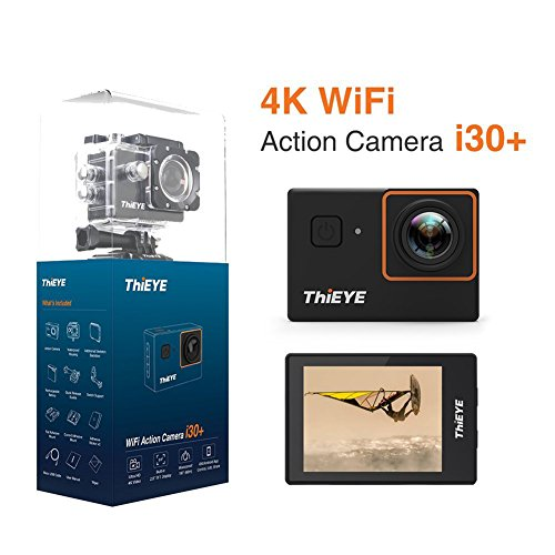 Ocamo THIEYE i30+ 4K 12MP WiFi Action Camera 197ft Waterproof Sports Camcorder 2.0Inch LCD 170° Wide Angle APP Control Camera