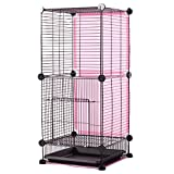 X-Large Small Animals Cage-Living House (Pink)