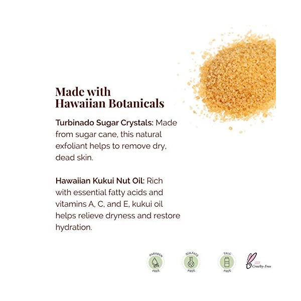 Hanalei Brown Sugar Body Scrub: Exfoliator For Dry Skin and Body Care, Exfoliating Scrubs Made with Hawaiian Raw Cane…