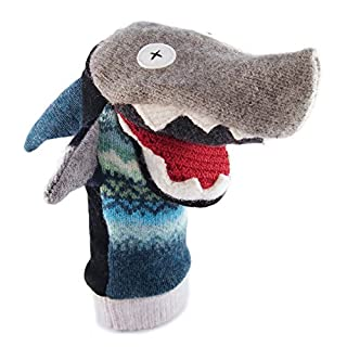 Cate & Levi - Baby Shark Boy Gift - Hand Puppet - Premium Reclaimed Wool - Handmade in Canada - Machine Washable (Shark)