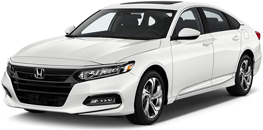 Acrylic Unpainted Air Deflector Sun Rain Guard 4pc With Chrome Trim by IKON MOTORSPORTS Window Visor Compatible With 2018-2019 Honda Accord Sedan