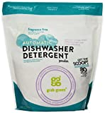 natural dishwasher rinse agent - Grab Green Natural Automatic Dishwashing Detergent Powder, Fragrance Free, 80 Loads