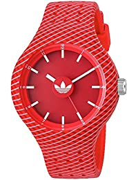 Womens Ipswich Quartz Rubber and Silicone Casual Watch, Color:Red (Model