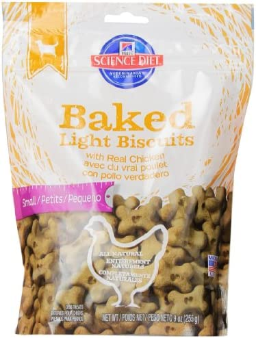 Hill S Science Diet Baked Light Biscuits With Real Chicken Dog Treats, 9-Ounce Pouch
