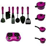 Ameesi 11Pcs/Set Children Kids Toy Kitchen Pretend Role Play Cookware Cooking Gift for Boys Girls...