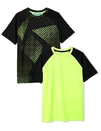 Amazon Essentials Boys Boys' 2-Pack Short-Sleeve Raglan Active Tee