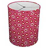 Hardback Linen Drum Cylinder Lamp Shade 8'' x 8'' x 8'' Spider Construction [ Pink Red Heart Love ]