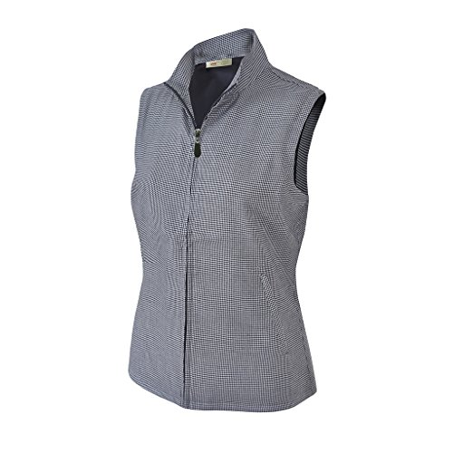 (Monterey Club Ladies Stretchable Houndstooth Vest #2963 (White/Black, Large))