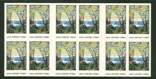 Louis Comfort Tiffany - Booklet of 20 US 41c Stamps 4165 (Magnolias And Irises By Louis Comfort Tiffany)