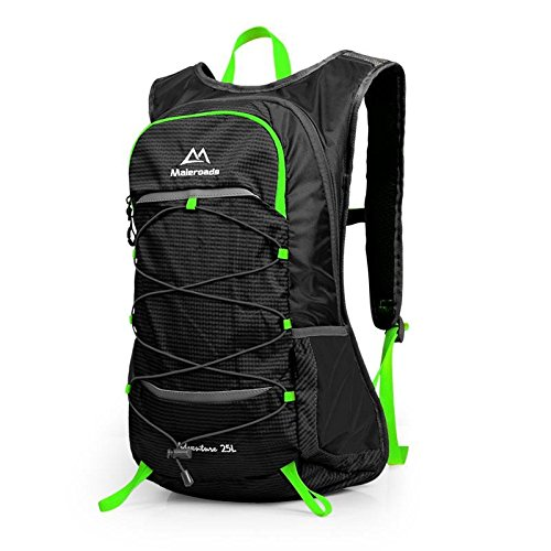 Sommer Reisen Rucksack wasserdicht outdoor Klettern Tasche Umhängetaschen für Männer und Frauen zu Fuß 25L , black