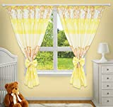 LUXURY DECORATIVE CURTAINS FOR BABY ROOM MATCHING WITH OUR NURSERY BEDDING SETS (Bear & Bunny Yellow)