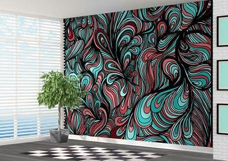 Funky Abstract Pattern Wallpaper Wall Mural Wall Art Abstract - 2XL ...