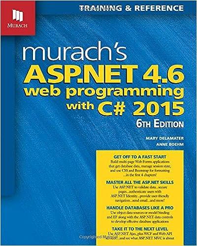 Murach's ASP.NET 4.6 Web Programming With C# 2015 Anne Boehm