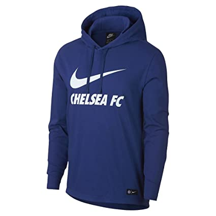 size 40 c8daf 48887 Amazon.com : Nike 2018-2019 Chelsea Core Hooded Top (Blue ...