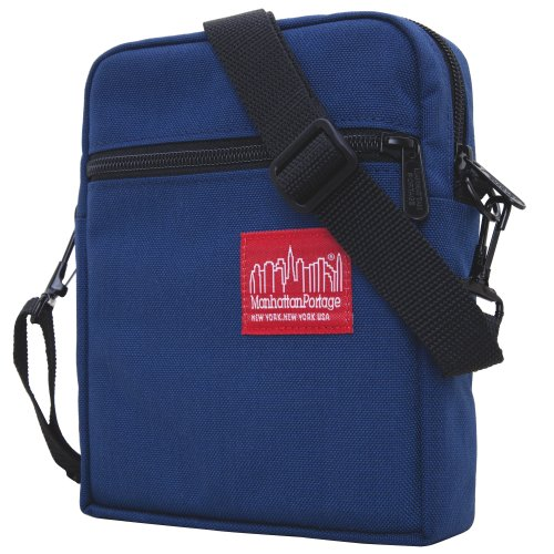 Manhattan Portage City Lights Bag, Navy (Blackberry Vinyl Pocket)