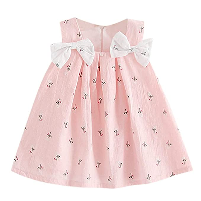 940a4e8737d5c Baby Girl Clothes Summer Dress Cotton Cute Bow Casual Holiday Princess  Dresses A-line Sundress