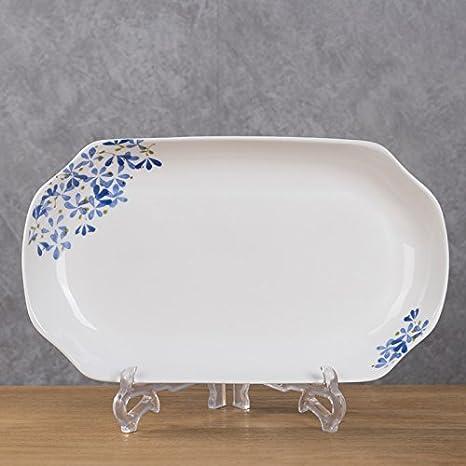 Plato de pescado y pescado plato rectangular de ceramica,35 mm 280 ...